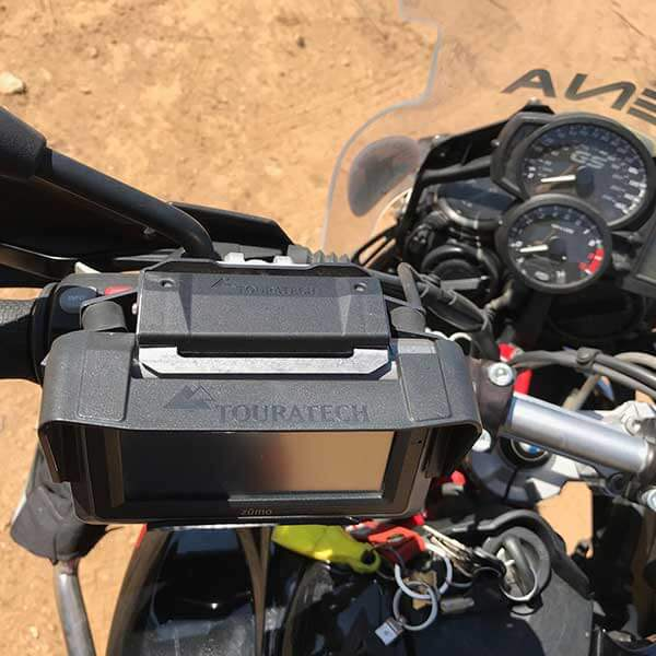 Touratech Locking GPS Mount and Sunshade